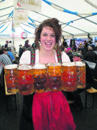 Revellers can expect scenes like this at tonight's German beer festival taking place at the MECA, Regent Circus