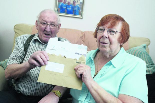 David and Pat Spurling will no longer be able to get their pensions from the local post office due to closure of the Eldene Centre