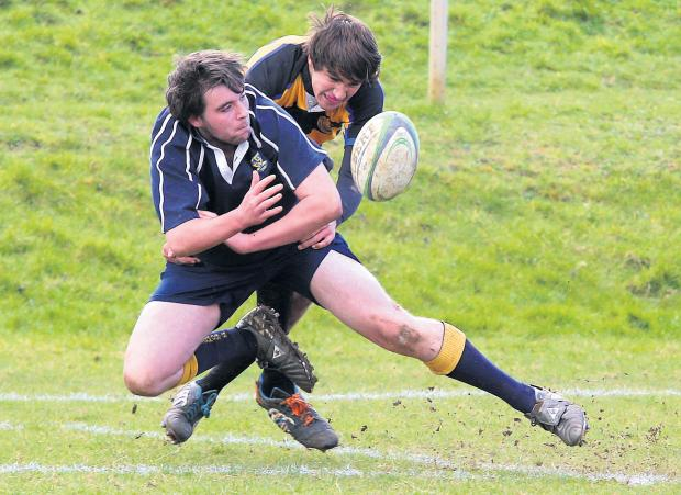 James Fearn in action for Farmor's School in their cup final