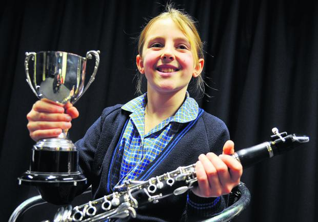 Tessa Harrison is all smiles after winning her class at the Swindon Music Festival