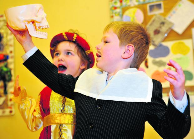 Chiseldon Primary School pupils turned back the clock a few centuries to mark Shakespeare week