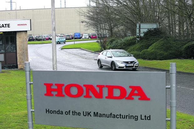 The Honda car plant at South Marston yesterday. The company has announced 500 people are set to lose their jobs there