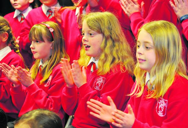 Ashbury School pupils compete in Class 152 Junior choir 11 and under at Swindon music festival