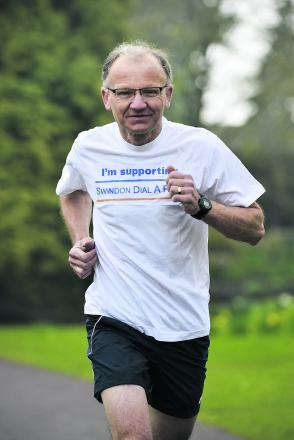 Best foot forward – Stan Pajak prepares to poud the Brighton Marathon route to raise funds for Dial-A-Ride