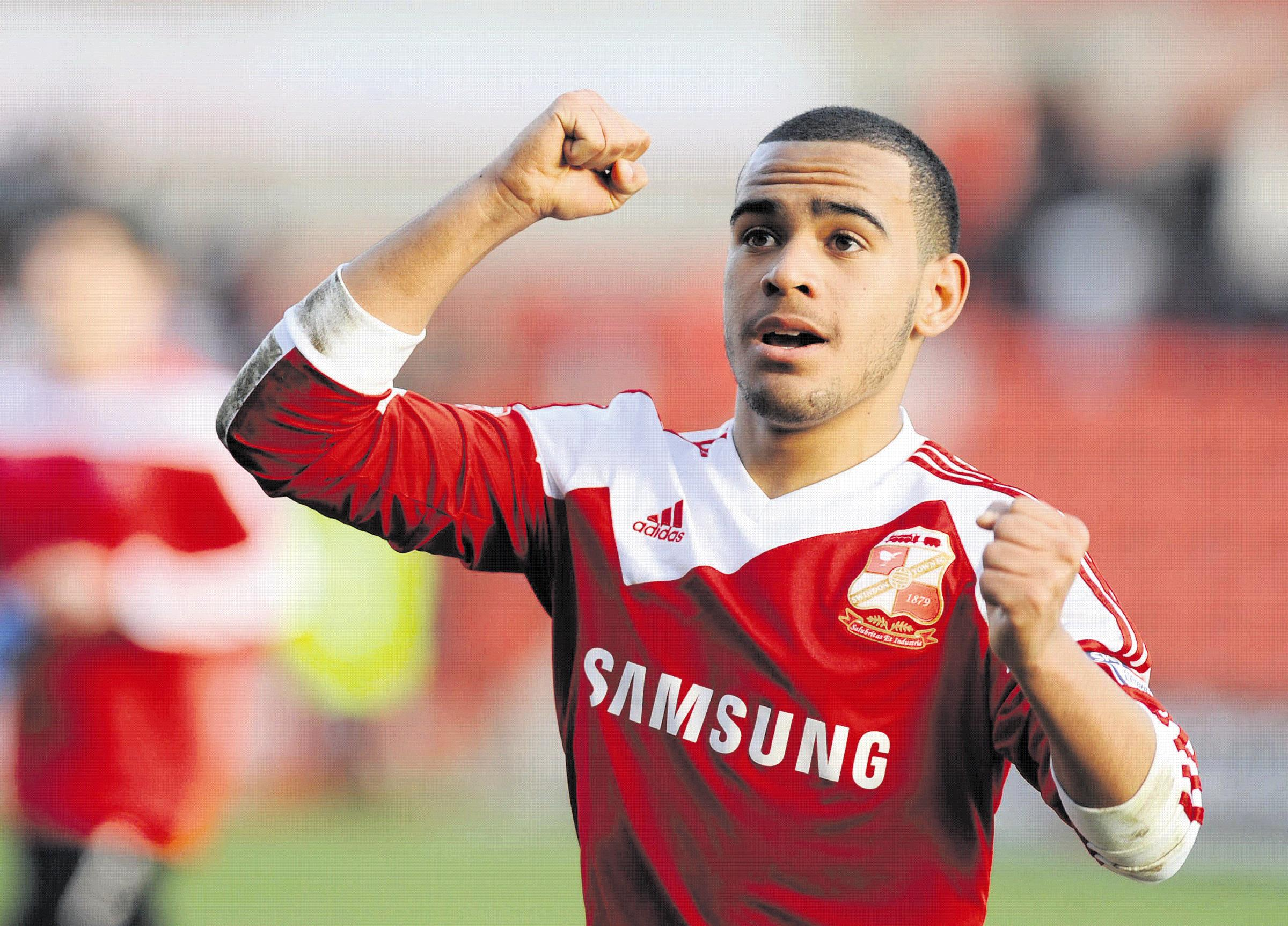 Louis Thompson scored Swindon's first goal against Brighton