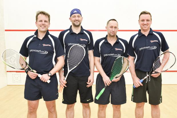 Swindon Advertiser: The Wessex Squash Club first team