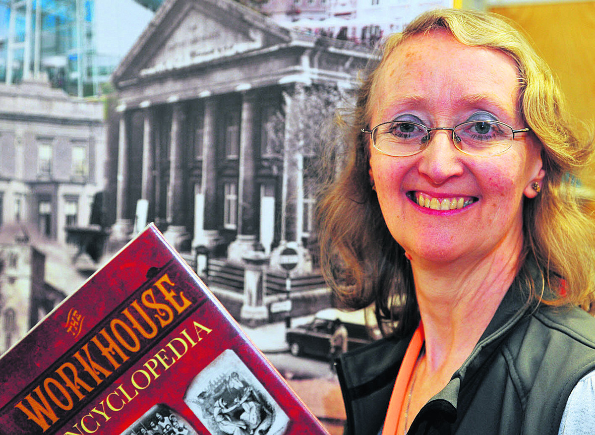 Margaret Moles, an archivist from the Swindon History Centre, who gave a talk at Swindon Central Library on Wiltshire's Victorian workhouses