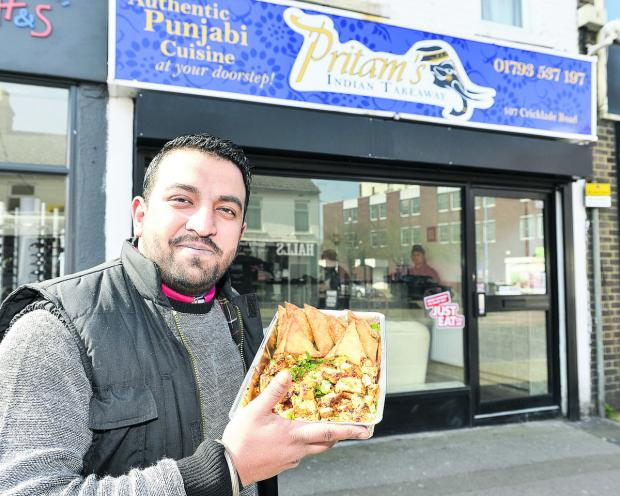 Amrit Singh, the co-owner of new Indian takeaway Pritam's in Cricklade Road
