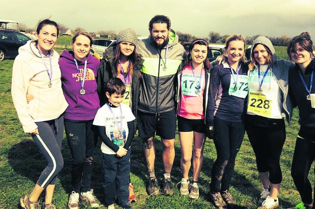 Charity runners have raised more than £1,000 by taking part in the Wiltshire Scramble