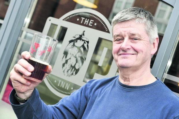 Jason Putt, the owner of the The Hop Inn, which has been named in the top 200 UK local pubs