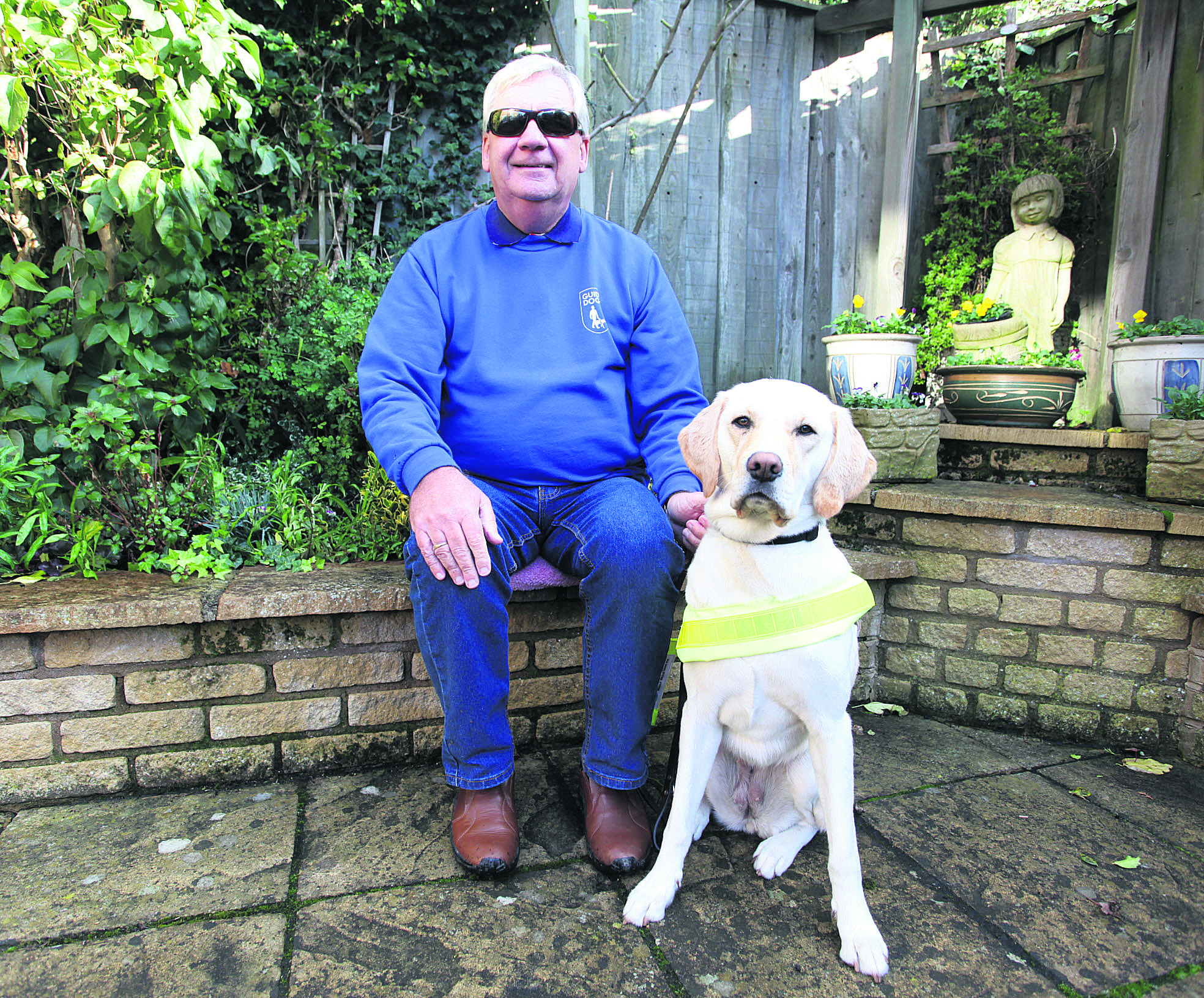 Alan Fletcher with his guide dog Nutmeg
