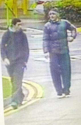 Police wish to speak to this duo following the theft of a mountain bike