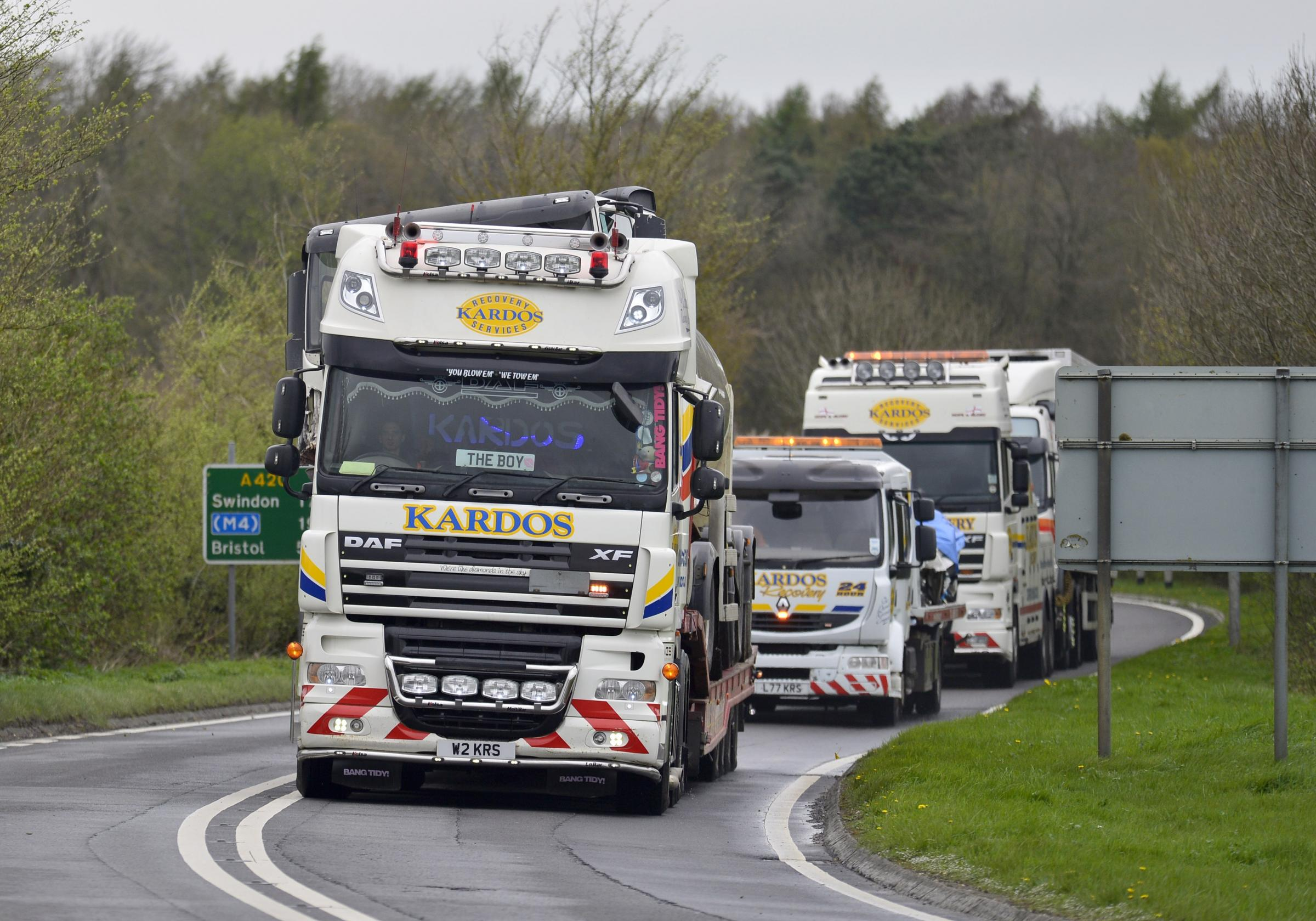 A man was killed in an accident involving two lorries on the A420