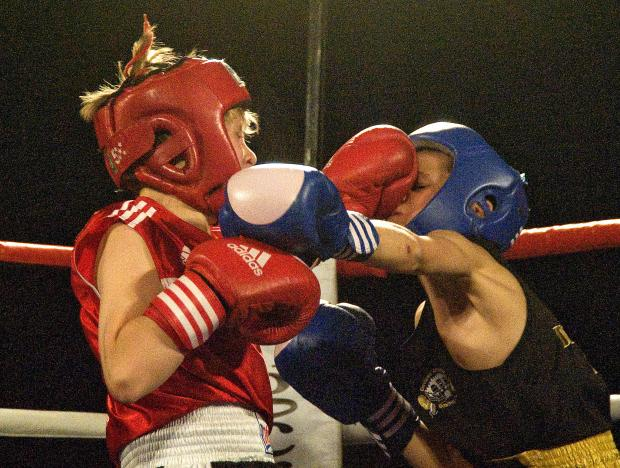 Action from Paddy Fitzpatrick's boxing show at the Oasis on Friday night