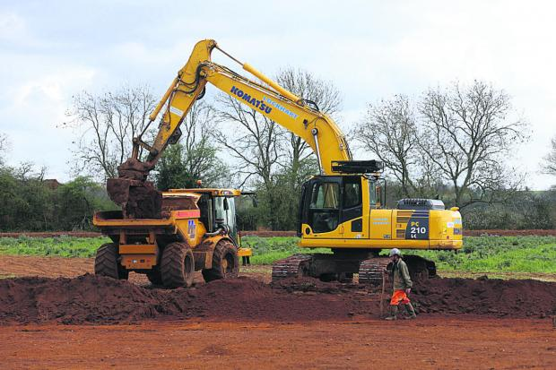 Diggers move in at Coate