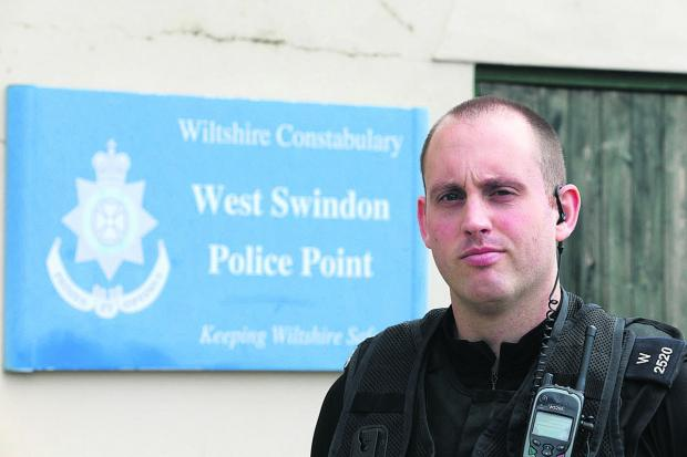 PC Gary Bracey pictured at West Swindon Police Point