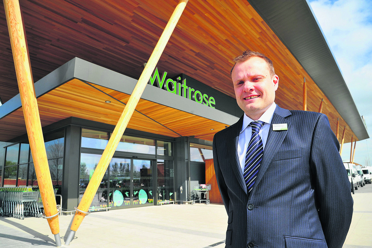 Ian Smith, the branch manager at the new Waitrose store at Wichelstowe
