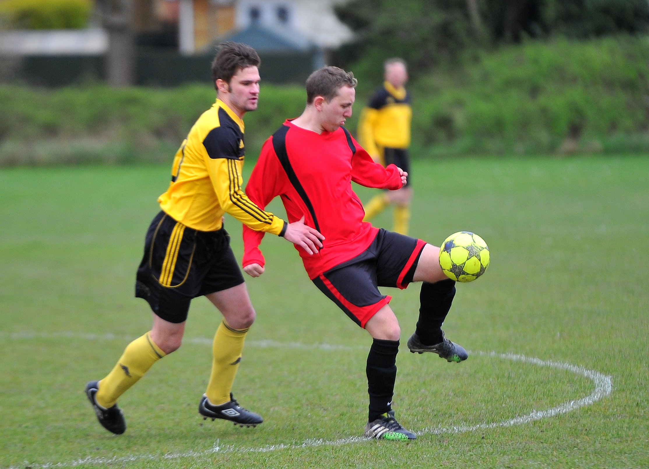 Action from a Lower Stratton match against Larry's Plaice earlier this season