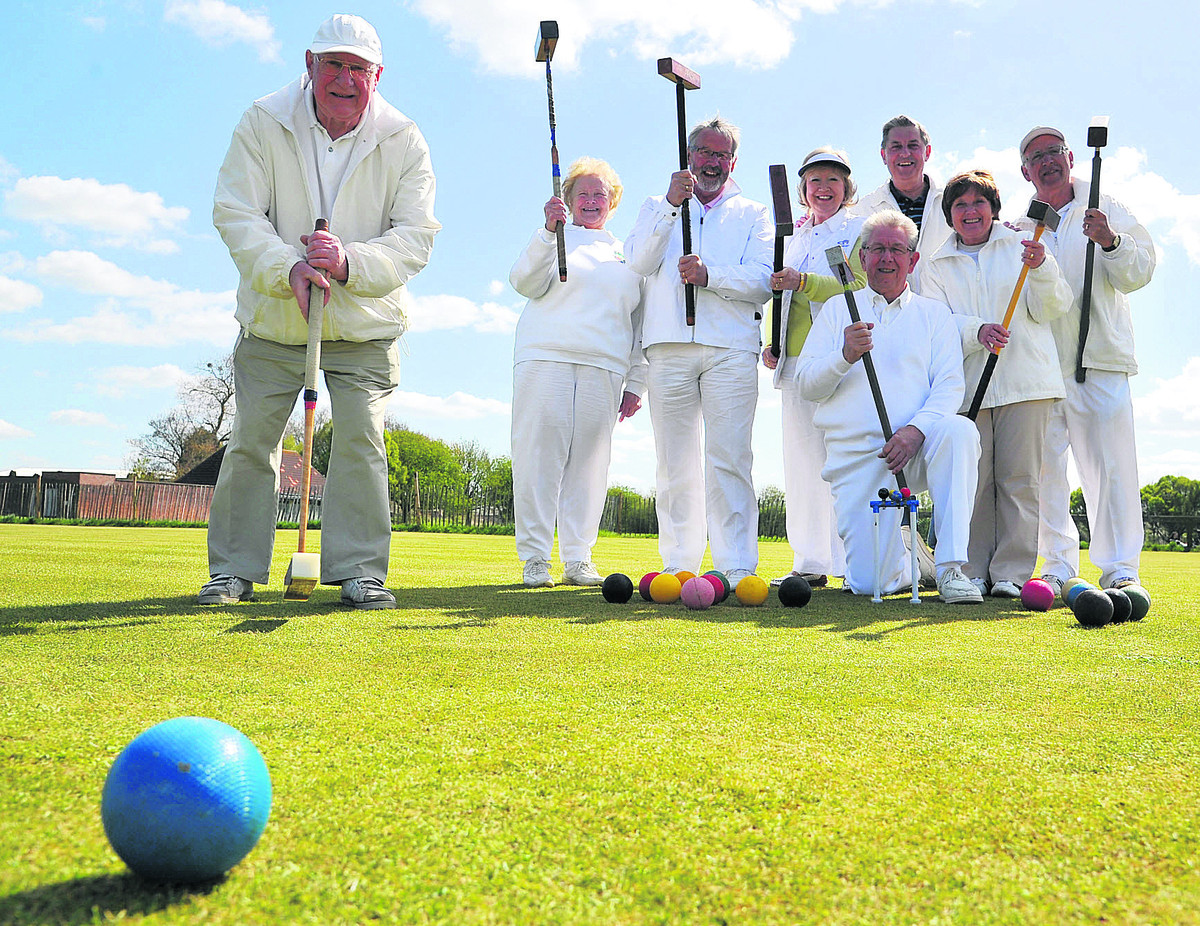 Swindon Croquet Club members celebrate their windfall