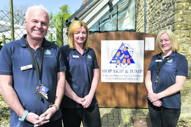 Terry Radcliffe, Sonia Osbourn and Hayley Stone of Hop Skip & Jump, Swindon