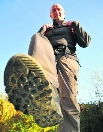 Peter Jenkins is trying to become the eighth man to walk around the planet, and is doing