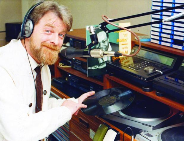 Surrounded by tapes, albums, a turn-table and a mic, Alan is in his element as he is pictured in 1989 at the BBC Wiltshire studios in Old Town. Today Alan can be heard every Saturday on Swindon 105.5