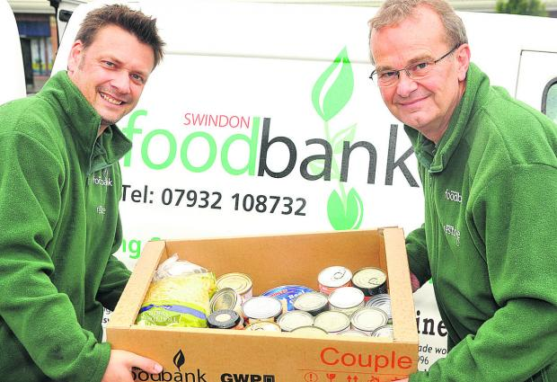 From left, Alex Pollock and David Martridge of the Foodbank