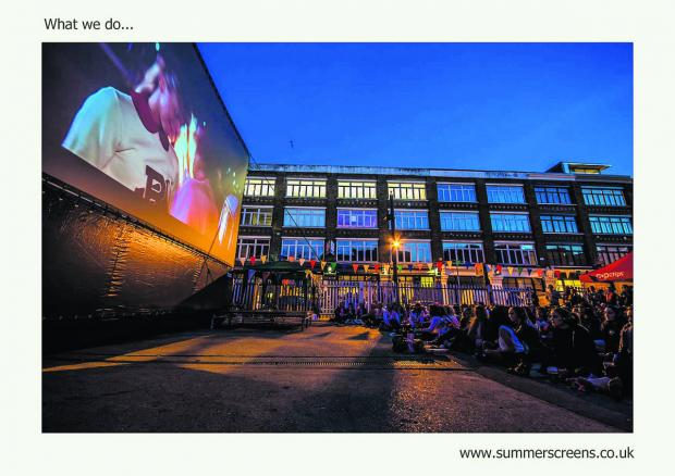 Swindon Advertiser: Cult Screens, an open air cinema which holds events in Reading and Oxford is  also going to be screening in Town Gardens Bowl in June, July, August and September
