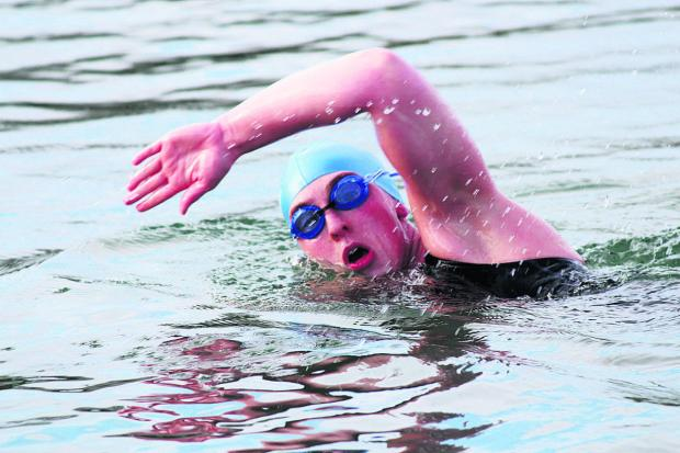 Jo Blount training for open water swimming