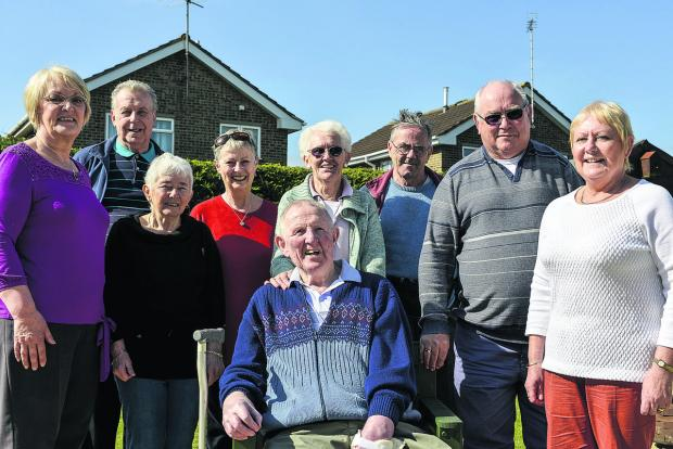 Enjoyng every minute of life, members of Swindon Stroke Support Group. Pictured are Peter Berrisford, sitting, back – left to right – Lil