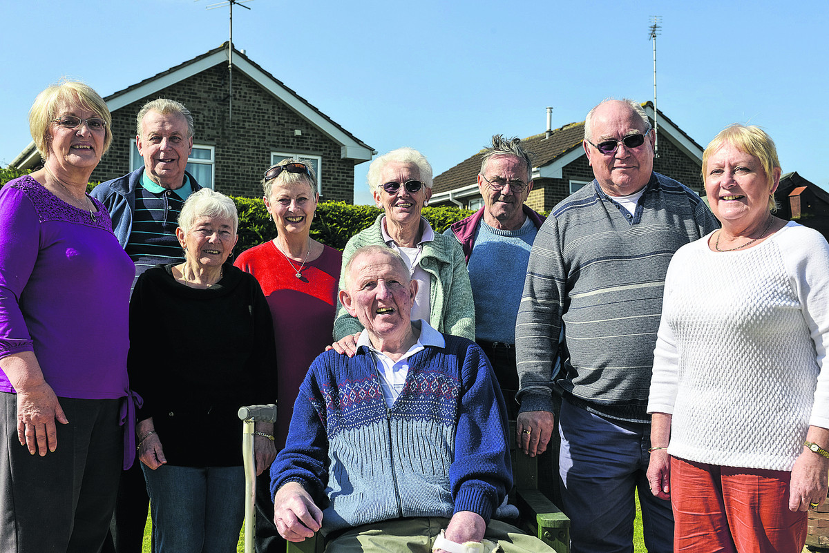 Enjoyng every minute of life, members of Swindon Stroke Support Group. Pictured are Peter Berrisford, sitting, back – left to right – Lilian Monk, Gerold Stephenson, Shirley Sofflet, Jackie Hirst, Pat Berrisford, John Messenger, Ivor Hancock and Lin H