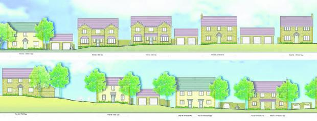 The design of the new houses at Hook Street