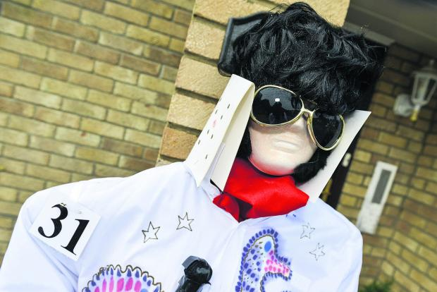 Elvis is alive and well and scaring crows in Highworth