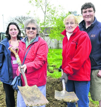 The East Locality team, residents and Rangers are to plant an  orchard on Saturday. From left, locality facilitator Tracy Scott, residents Carole Brownlee and Hilda Bushnell and Ranger David Boase