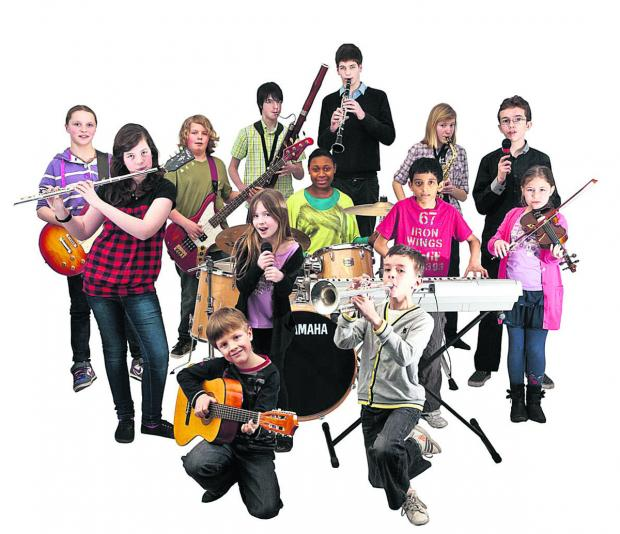In perfect harmony – an ensemble of instrumentalists who are studying with Swindon Music Co-operative