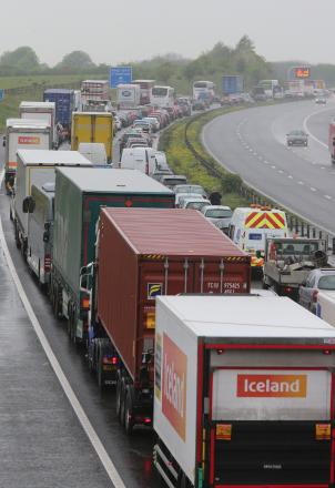 Two accidents on the M4 posed traffic problems this morning