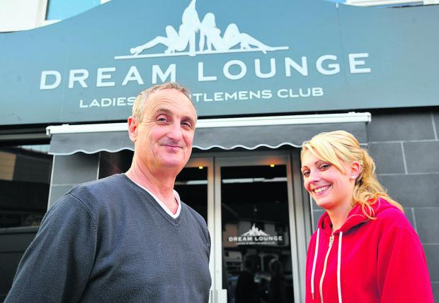 Pete and Charlotte Rogers at the  re-opening of the Dream Lounge lapdance club after it was gutted by fire last summer