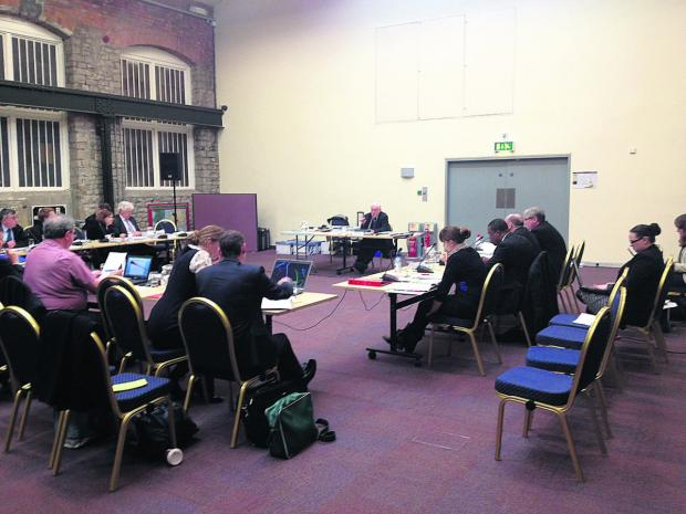 Planning inspector Mike Fox talks at the first day of the full public inquiry into the Local Plan