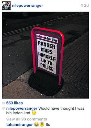 Nile Ranger's Instagram post