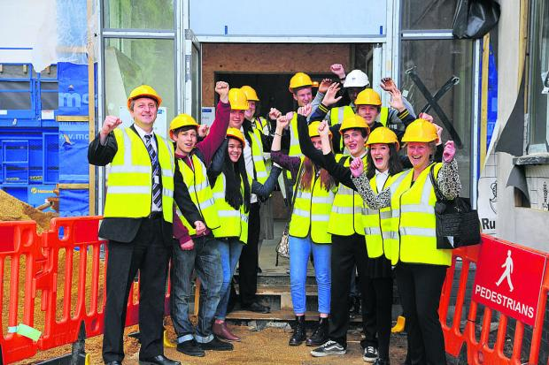 Students at Commonweal School get a tour of their new sixthform block