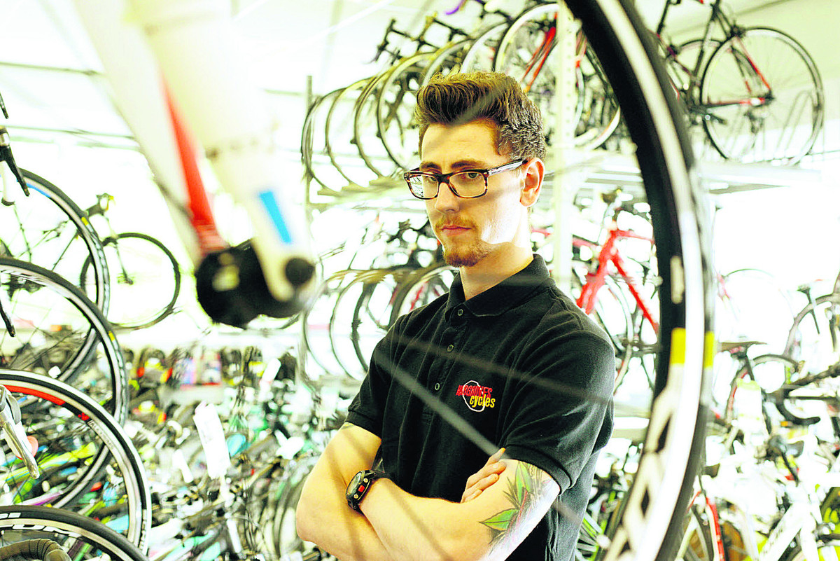 Tom Holden, of Hargroves Cycles, is upset that a special Sworks Enduro FSR Carbon 2011 bike worth £5,900 was stolen from the shop