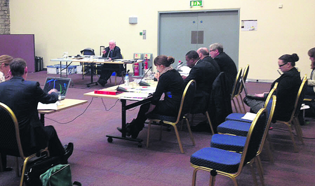 Mike Fox (Planning Inspector) at the full public inquiry into the Local Plan, being held in Swindon
