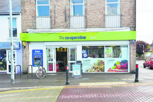 The Co-op in Moredon, where the robbery took place