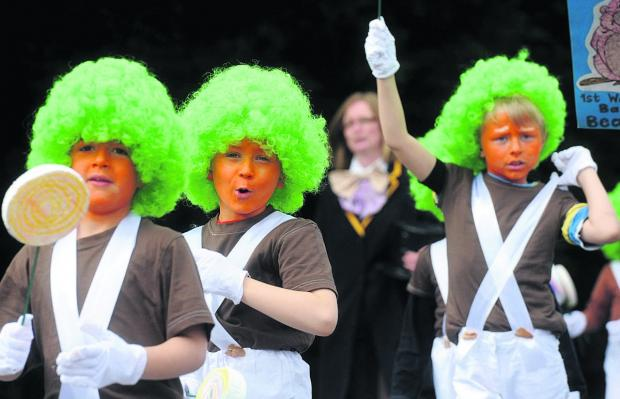 Ooompa Loompas on the march at last year's Royal Wootton Bassett carnival