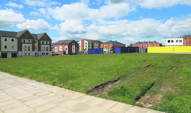 The area in Redhouse covered by the now withdrawn planning application to build a residential care home as well as shops