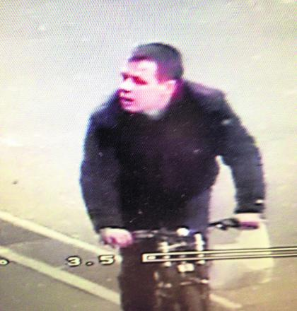 Shane Reed, 32, picture just as he was about to steal a dummy CCTV camera outside a shop in Swindon town centre
