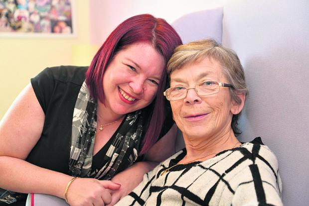 Swindon Advertiser: Amanda Franks and her mum Cathy Davidson. Amanda is organising a fundraising gig to help fight Alzheimer's
