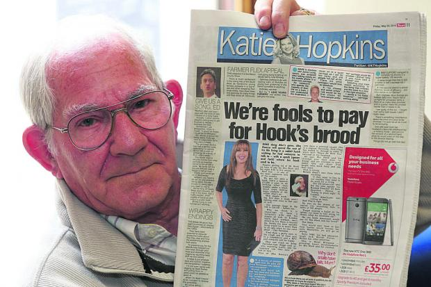 Owen Reynolds is angry about comments made by Katie Hopkins,