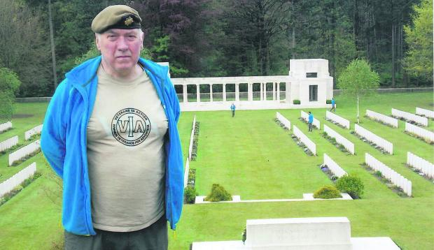 Jim Archer at the Polygon Wood Cemetery in Belgium