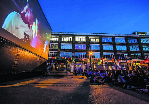 Swindon Advertiser: A Cult Screens open air screening in another part of the country
